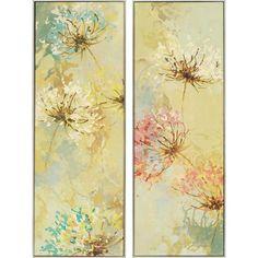 2 Piece Blooms Framed Print Set