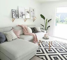 Use these gorgeous modern living room ideas, even if you have a small living room or lounge, as a starting point for your living room design decorating project. Small Living Room Decor, Room Design, Home, Living Room Decor Apartment, Apartment Living Room, House Interior, Apartment Decor, Living Decor, Home And Living