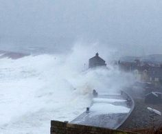 The Cove House Inn takes a battering at Chesil Cove, Portland, Dorset 5th February 2014 #Storms