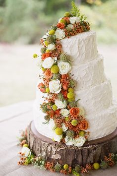 I love these colors and that the cake is not perfect...It looks home made
