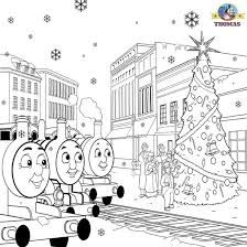 Thomas The Train Printable Winter Coloring Pages For Kids