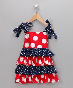 girls patriotic dress idea @Traci Cameron This one should be easy!