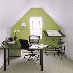 Charming attic alcove workspace. | Photo: Eric Piasecki | thisoldhouse.com