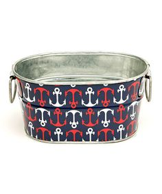 Anchors Away Navy Midi Bath Bin. I love!!!