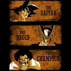 The Saiyan, The Droid & The Champion T-Shirt $12.99 Dragon Ball tee at Pop Up Tee!