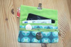 Tasche Friia  (Geldbörse mit Smartphone Fach)  nähen mit kostenlosem Sch...