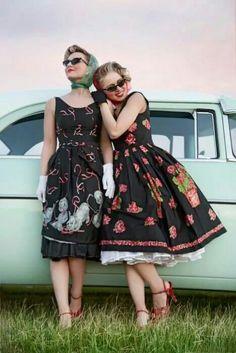just loving the vintage fashion Rockabilly Pin Up, Rockabilly Outfits, Rockabilly Fashion, Retro Fashion, Vintage Fashion, Pin Up Vintage, Vintage Mode, Retro Vintage, Vintage Style