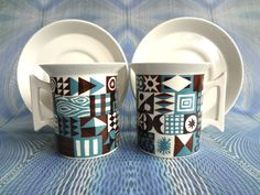 Vintage Portmeirion Pair Of Coffee Cups And by PurelyPortmeirion, £30.00