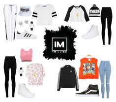 1MILLION DANCE STUDIO #16 by kariina-sykes on Polyvore featuring moda, Karl Lagerfeld, adidas Originals, NIKE, Topshop, Wolford, Vans, Kenneth Jay Lane, Daniel Wellington and Finn