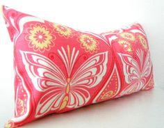 Pink Lumbar Pillow Coral Pink Throw pillow Cover by CityGirlsDecor, $34.65