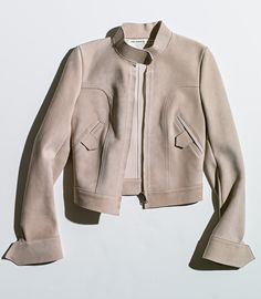 Ferragamo pale pink suede jacket