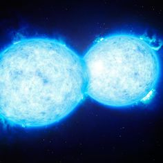 "This animation shows the newly discovered ""smooching"" stars that make up the binary system VFTS 352 -- the hottest and most massive binary known to date sitting about 160000 light-years from Earth. It turns out that the stars' smooch isn't a romantic one. They're giving each other the kiss of death. Click link in bio to learn more. (Credit: ESO/L. Calçada) by huffpostscience"