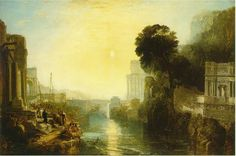 "The artwork of the Romantic era shows a direct correspondence to a spirital connection with the physical world. this piece, by JMW Turner, displays a bright sun as the focal piece, relating to the heavens.   ""Dido Building Carthage; or The Rise of the Carthaginian Empire, 1815"" Art of the Romantic Era"
