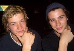 Oh boys oh boys...9th grade all over again ;)!  Ed Speelers and Garret Hedlund taking a moment to pose while on the set of Eragon. :)