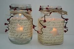 Country Candle Holders by SpreadALittleCheer on Etsy, $9.97