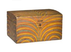 paint decorated box from Northeast Auctions
