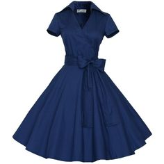 Maggie Tang 50s 60s Vintage Short Sleeves Swing Rockabilly Ball Party... (505 ZAR) ❤ liked on Polyvore