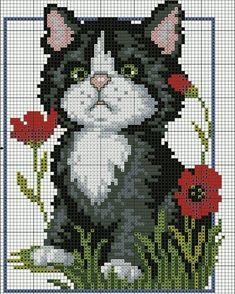 Diy Crafts - Kitten - counted cross-stitch kit - Luca-S Funny Cross Stitch Patterns, Cat Cross Stitches, Cross Stitch Love, Cross Patterns, Cross Stitch Animals, Counted Cross Stitch Kits, Cross Stitch Charts, Cross Stitch Designs, Cross Stitching