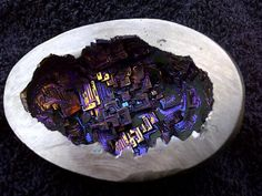 Bismuth Crystal Geode.   Very large 99.99% pure bismuth egg (about 3.4 inches high and 6.5 inches around), around 1lb.