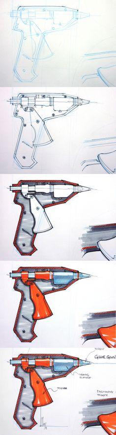Glue gun section process