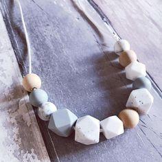 Teething Necklace 'Darcey' Grey Nursing Necklace