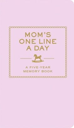 @Rose Scarborough...For the busy mom-on-the-go, this memory keeper offers a quick and easy way to capture the everyday moments of motherhood. With enough space to record a single thought, a family quote, or a special event each day for five years, this beautiful keepsake makes sure those precious memories will last a lifetime.
