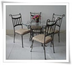 Wrought iron round dining table kitchen table and chairs wrought iron round dining table kitchen table and chairs pinterest round dining table wrought iron and iron watchthetrailerfo