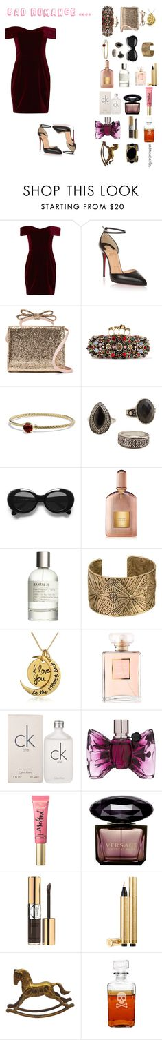 """..."" by misstunis ❤ liked on Polyvore featuring beauty, Nicholas, Christian Louboutin, RED Valentino, Alexander McQueen, David Yurman, MANGO, Acne Studios, Tom Ford and Le Labo"