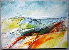 """From the Shropshire sketchbook series by Marie Allen. Mixed media on board. 5x7""""."""