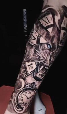 Forarm Sleeve Tattoo, Lion Tattoo Sleeves, Forarm Tattoos, Leg Tattoo Men, Tattoo Sleeve Designs, Tattoo Designs Men, Half Sleeve Tattoos For Guys, Full Arm Tattoos, Best Sleeve Tattoos