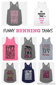 Fit'n'Fashionable: Funny Running Tank Tops | The Fit Foodie MamaThe Fit Foodie Mama