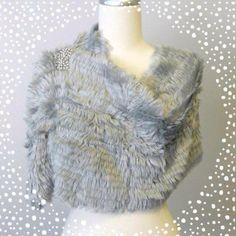Furry Scarf // Sparkling Brooch <3