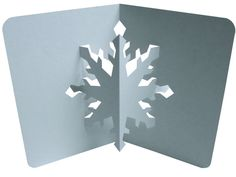 Pop Up Snowflake Card Video Tutorial along with printable PDF - Origamic Architecture from PopUpology