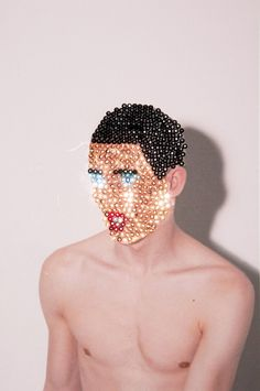 Artist Colby Jones breaks down gender stereotypes with sequinned collages…