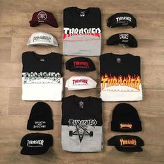 Thrasher basics & specials available in lots of different color t-shirts longsleeves and hoodies and much more check the full collection at sickboards.nl. #thrasher #thrashermagazine #skateboarding