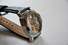 B-UHR PANERAI tribute SKELETON watch,stainless steel, brand new + warranty card! $229!