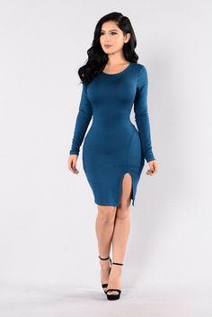 Just Like Fire Dress - Olympic Blue