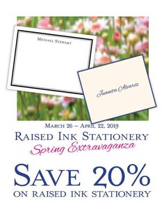 Save on Raised Ink Stationery from Embossed Graphics. Offer good through Monogram Wedding Invitations, Personalized Stationery, Thank You Notes, Note Cards, Wedding Cards, Place Card Holders, Graphics, Ink, Wedding Ecards