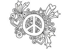 Coloring Page Sign Peace Symbol | keeping all the controversies about the symbolism aside the peace