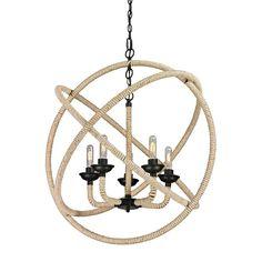 Titan Lighting Arundel Collection 5-Light Matte Black Chandelier