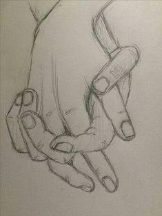 Prática esboço segurando as mãos 4 - pinkishcoconut Zeichnungen iDeen ✏️ Cool Art Drawings, Pencil Art Drawings, Easy Drawings, Drawing Sketches, Sketching, Sketch Art, Sketches Of Hands, Sketch Ideas, Sketches Of Boys