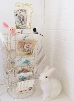 Fr dottie angel - love the vintage postcard rack so much!!!