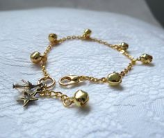 Gold Pixie Belle Anklet  Baptism Jewelry  by MagnificentMouse