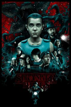 The demogorgon lurks in this stranger things art from vance kelly Stranger Things Saison 1, Stranger Things Quote, Stranger Things Steve, Stranger Things Aesthetic, Stranger Things Netflix, Laurent Durieux, Look Star, Alternative Movie Posters, Ghost In The Shell