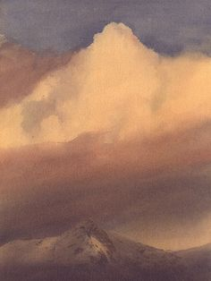 Clouds above Cnicht, an original watercolour painting by Rob Piercy