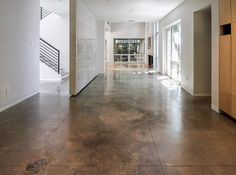 Craftsman Concrete Floors - Texas Concrete Floor Polishing, Staining, Sealing and Overlays Concrete Floors In House, Seal Concrete Floor, Polished Cement Floors, Polished Concrete Kitchen, Concrete Kitchen Floor, Concrete Tiles, Concrete Countertops, Kitchen Flooring, Finished Concrete Floors