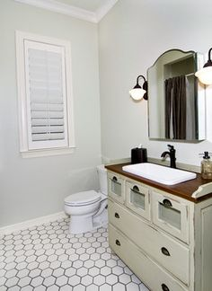 Image Gallery Website Client had us turn her baby us changing table into the guest bathroom sink Tile is