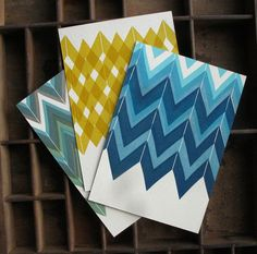 Set of Three Pattern Postcards