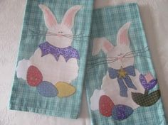 Looking for your next project? You're going to love Mr. & Mrs. Cottontail Applique Tea Towel by designer Quilt Doodle. - via @Craftsy