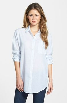 Nexx Oversized Stripe Cotton Shirt available at #Nordstrom